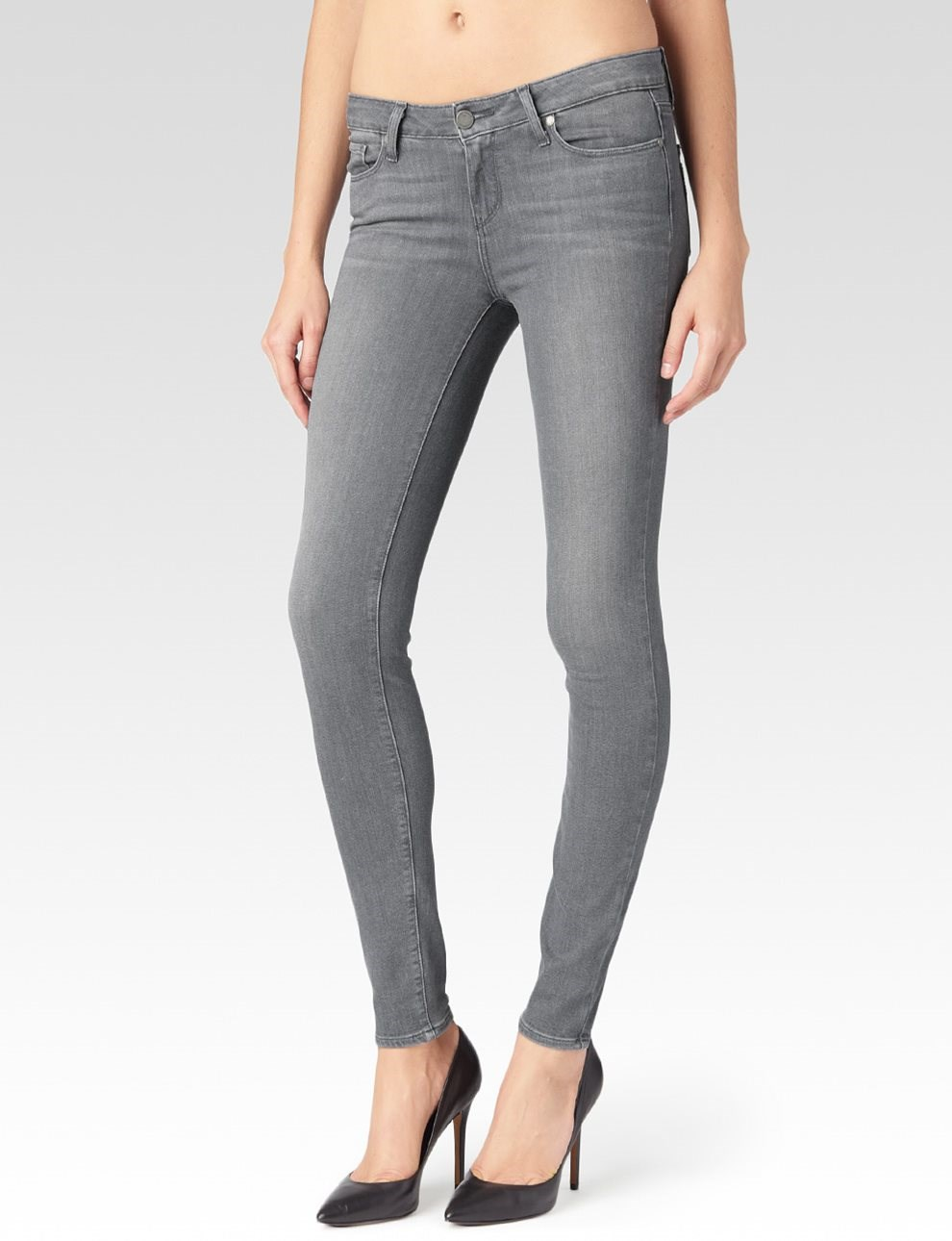 PAIGE Womens Verdugo Ultra Skinny Jeans-Silvie