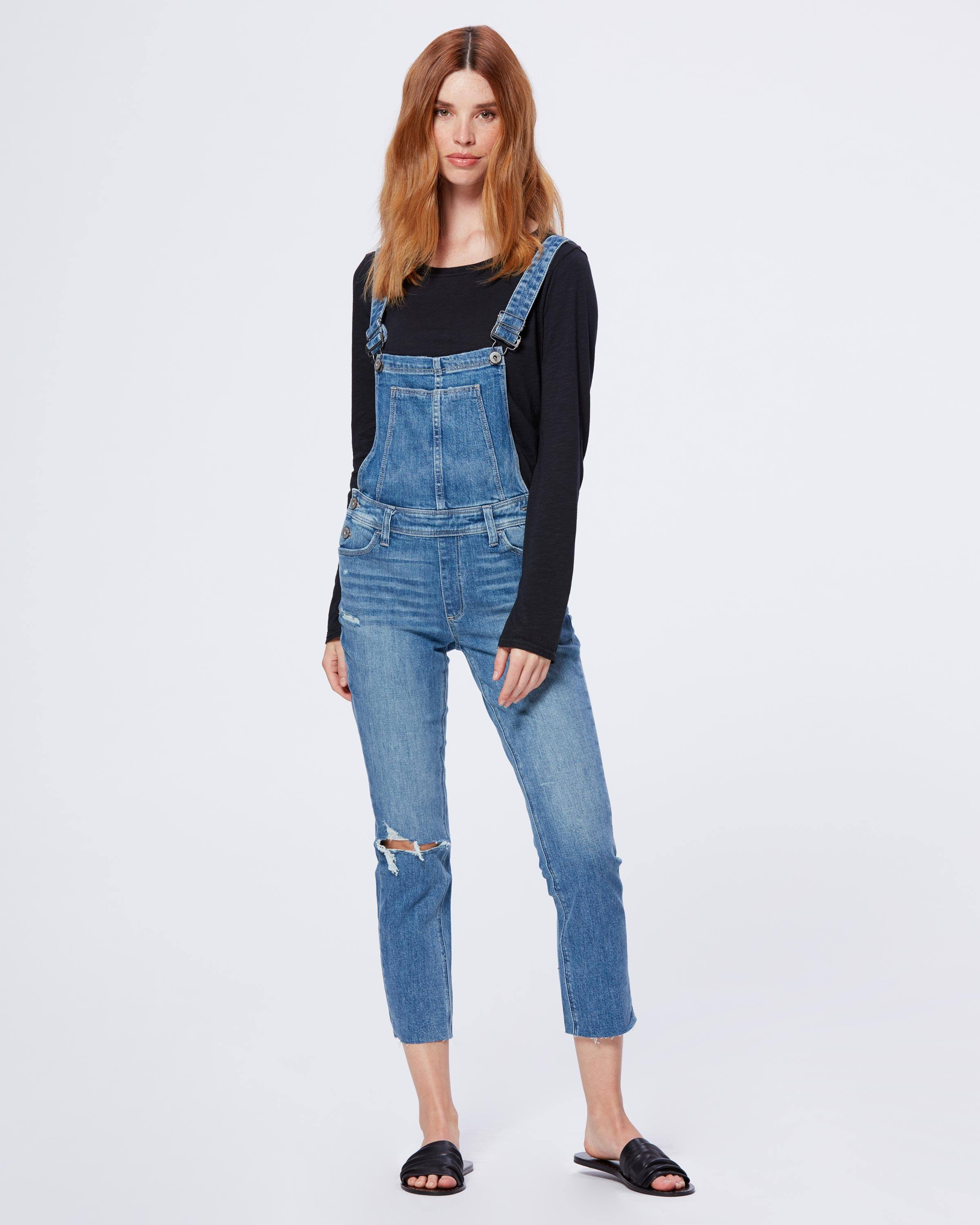 PAIGE Womens Hi Rise Sierra Overall
