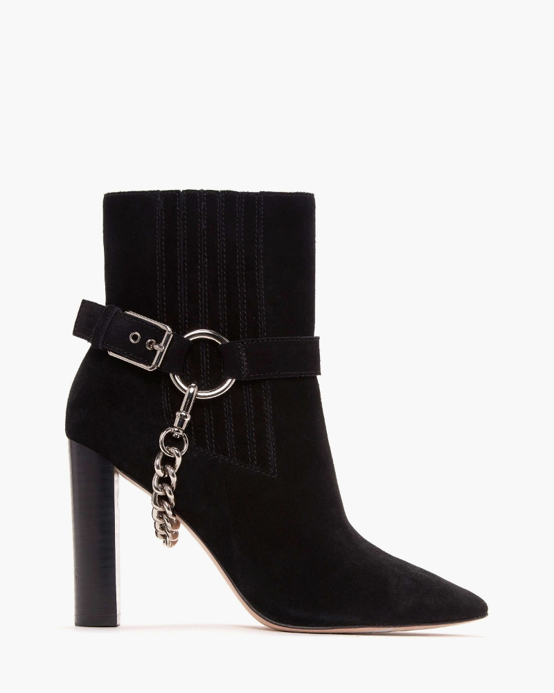 Paige London Suede Black Boots